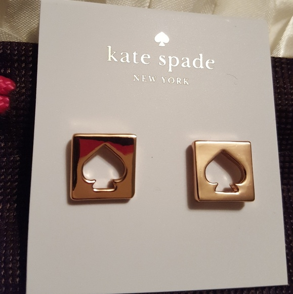 kate spade Jewelry - ♠️Kate Spade Rose Gold hole punch earrings